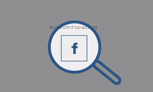 Login attraverso il proprio account Facebook