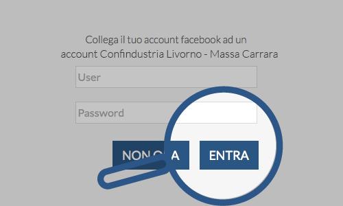 Collegare l'account Facebook a uno degli account Confindustria Livorno